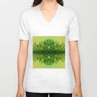 leaf V-neck T-shirts featuring Leaf by Cs025