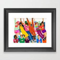 Straphangers Framed Art Print