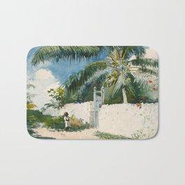 Winslow Homer - A Garden in Nassau,1885 Bath Mat