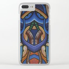 Poly Tribal Clear iPhone Case