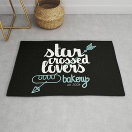 Starcrossed lovers bakery Rug