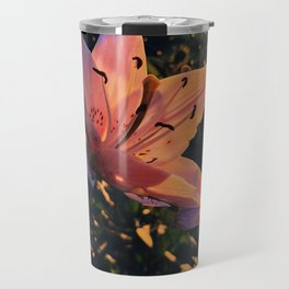 Hibiscus in golden hour Travel Mug