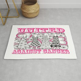 United Against Cancer - Breast Cancer Awareness - Zentangle Women Rug