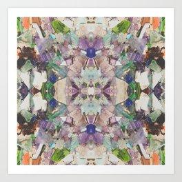 Beautifully Broken | Abstract Glass Art Art Print