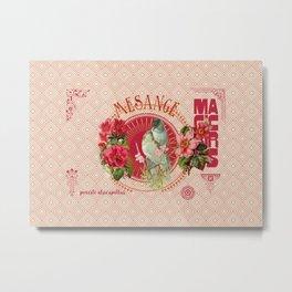 Magic Birds - Mesange Metal Print