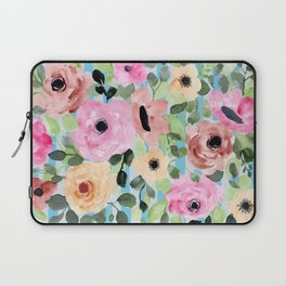Watercolor Flowers Preppy Pastels Laptop Sleeve