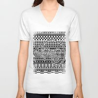 ethnic V-neck T-shirts featuring ethnic by jun salazar