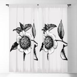Vintage flower illustration 1 Blackout Curtain