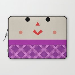 Muñeca de Trapo (Mexican Cloth Doll) Square Friends (Pink and Blue) Laptop Sleeve