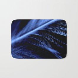 Blue Feather close up Bath Mat