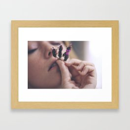 Smoking Sadness Framed Art Print