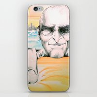 steve jobs iPhone & iPod Skins featuring Steve Jobs by Julie Roth Illustration