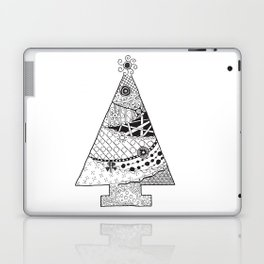 Doodle Christmas Tree Laptop & iPad Skin
