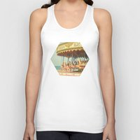 carousel Tank Tops featuring Seaside Carousel by Cassia Beck