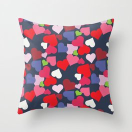 queen of hearts I Throw Pillow