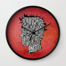 Typography Tyler Durden Uncensored Wall Clock