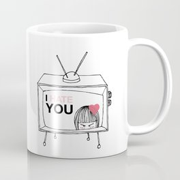 I Hate You / Television Coffee Mug