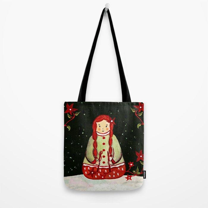 Winter Magic Girl Tote Bag