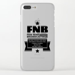 Fake News Clear iPhone Case