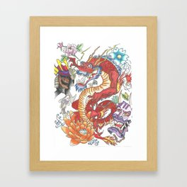 """Jaakuna Doragon - Evil Dragon"" Framed Art Print"