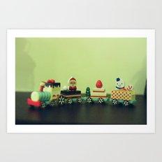 Train to Childhood Art Print