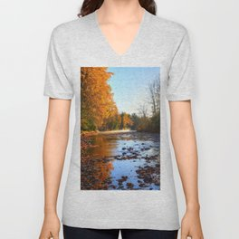 Salmon Sanctuary - Adams River BC, Canada Unisex V-Neck