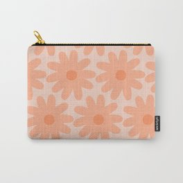 Crayon Flowers Smudgy Soft Pastel Floral Pattern in Apricot Carry-All Pouch