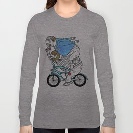 On how bicycle riders utilize team work in certain situations. Long Sleeve T-shirt