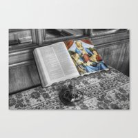 bible Canvas Prints featuring The Bible by Ian Mitchell