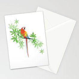 Tropical Parrot Summer Stationery Cards