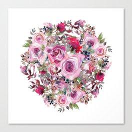 Bouquet of flower - wreath Canvas Print