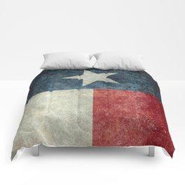 Texas state flag, vintage banner Comforters