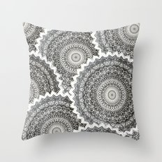 WINTER MANDALAS Throw Pillow