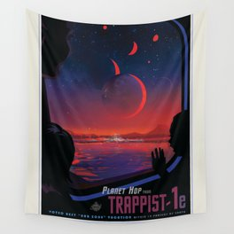 NASA Visions of the Future - Planet Hop from Trappist-1e Wall Tapestry