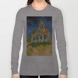 Vincent van Gogh's L'eglise d'Auvers sur Oise Long Sleeve T-shirt