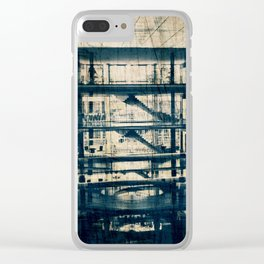 Labyrinth of Stairs #1 Clear iPhone Case