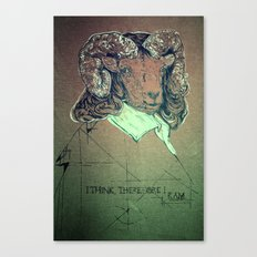 I think; therefore I ram. Canvas Print