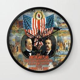 Vintage poster - William McKinley/Theodore Roosevelt Wall Clock