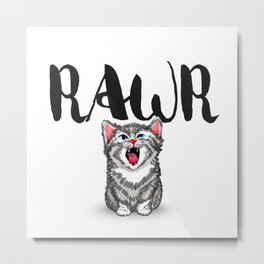 Little Pal, Big Roar Metal Print