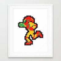 samus Framed Art Prints featuring samus by Walter Melon