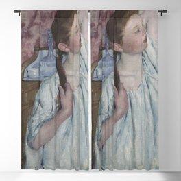 Mary Cassatt - Girl Arranging Her Hair Blackout Curtain