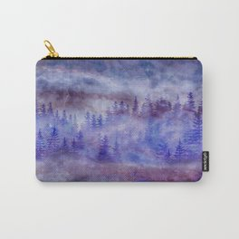 Misty Pine Forest Carry-All Pouch