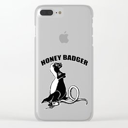 Honey badger Clear iPhone Case