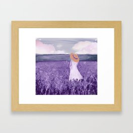 Lavender dream Framed Art Print