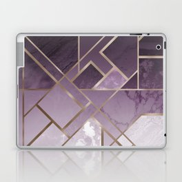 Purple geometric marble pattern Laptop & iPad Skin