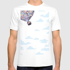disney pixar up.. balloons and sky with house White Mens Fitted Tee MEDIUM