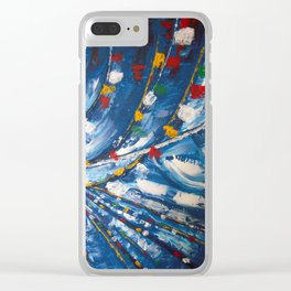 Prayer Flags Clear iPhone Case
