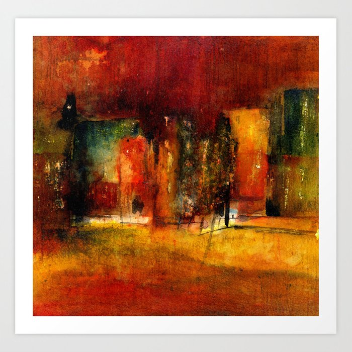 red town Art Print