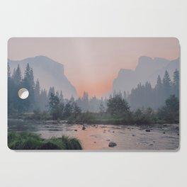 Yosemite Valley Sunrise Pretty Pink Cutting Board