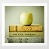 apple Art Prints featuring Apple by Olivia Joy StClaire